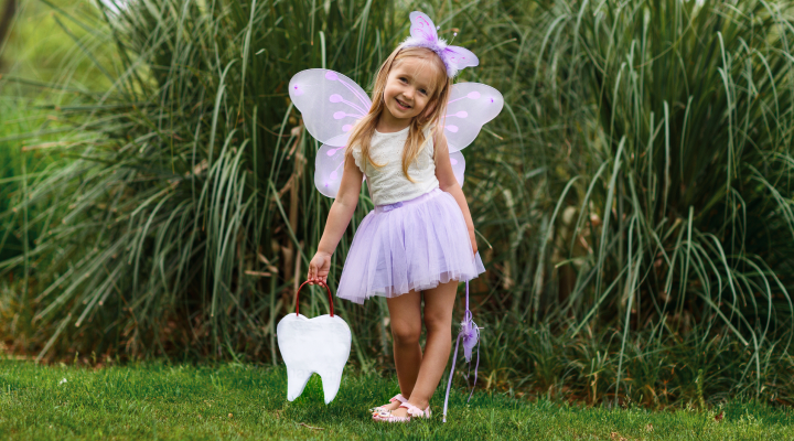 Halloween costumes don't have to be complicated or intricate; all you need are a few supplies and some crafty spirit. Here's 3 of our clever costumes to DIY, from a Tooth Fairy, to a vampire, to a dentist costume for children. TOOTH FAIRY This Tooth Fairy tutu is an easy costume that can be whipped